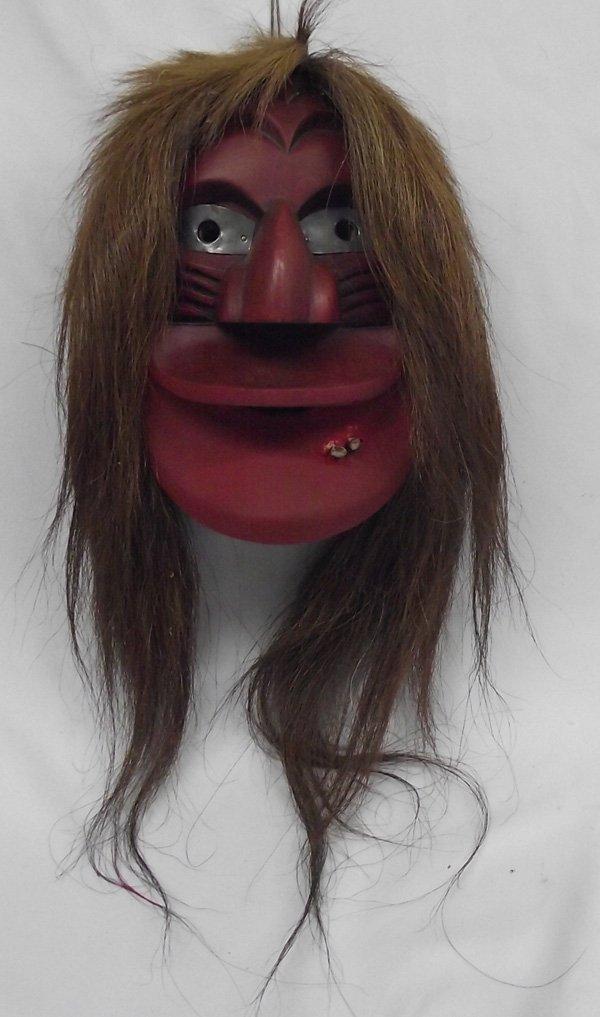 Seneca Iroquois Wooden False Face Mask
