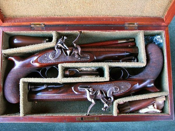 1810 Set of Palmer English Flintlock Pistols