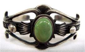 Navajo Sterling Turquoise Bracelet Martinez