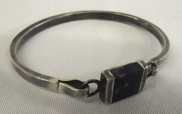 Mexican Taxco Sterling Silver Lapis Bracelet