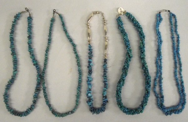 Sterling Turquoise Chokers and Necklaces