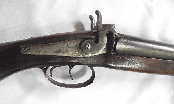 1800s Antique Double Barreled Muzzleloader Shotgun - 2