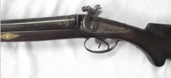 1800s Antique Double Barreled Muzzleloader Shotgun - 5