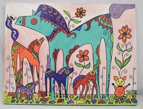 Original Acrylic Painting  My Ponies  - Kills Thunder