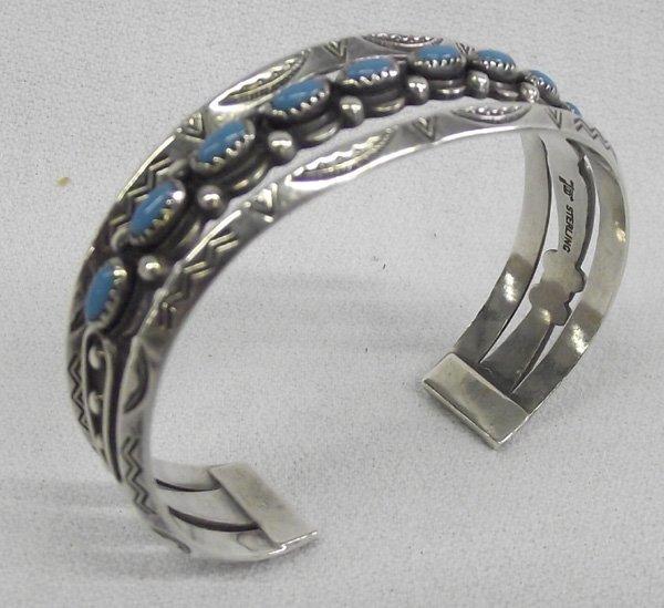 Vintage Fred Harvey Turquoise Sterling Bracelet