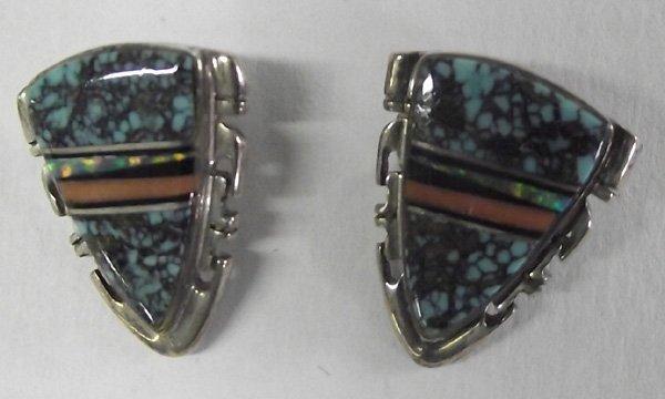 Navajo Channel Multi-stone Earrings-A. Francisco