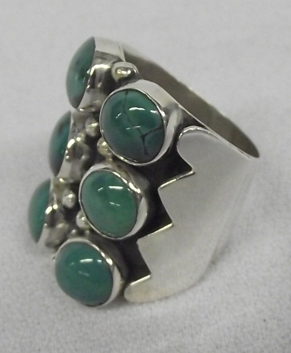 Navajo Turquoise Cabochons & Sterling Ring