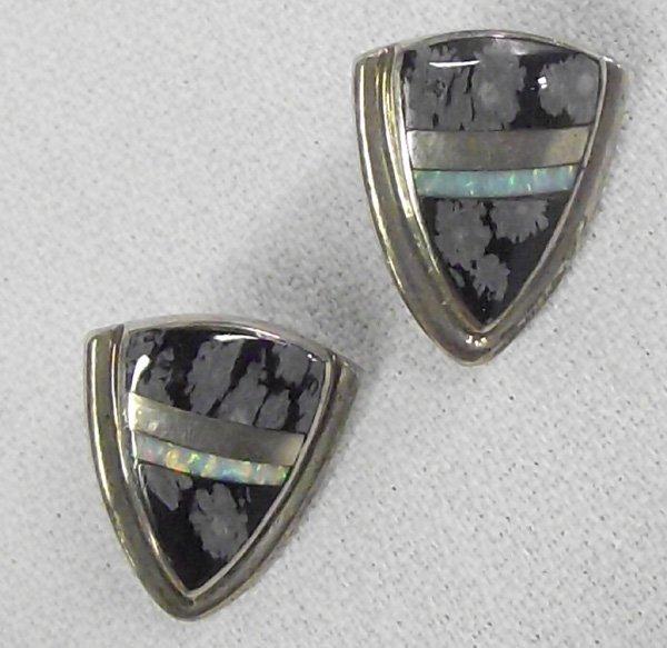 Navajo Channel Sterling Earrings-Albert Francisco