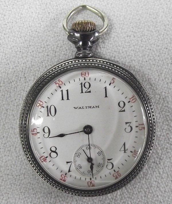 1904 Waltham Sterling Gold Ladies Pocket Watch