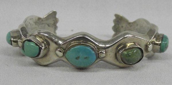 Vintage Navajo Turquoise  Sterling Bracelet