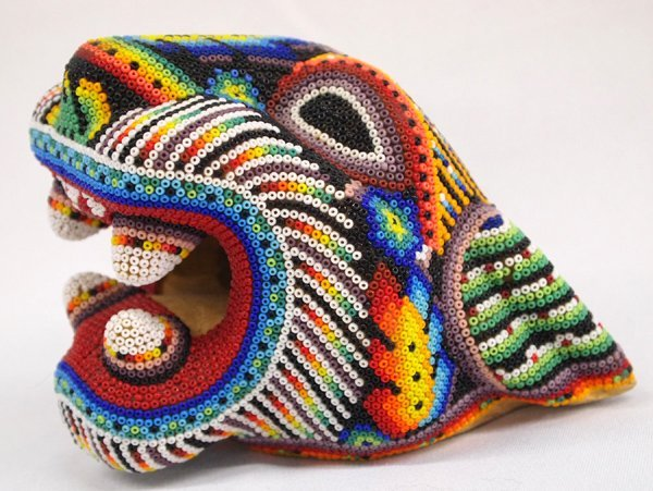 Huichol Beaded Panther Head