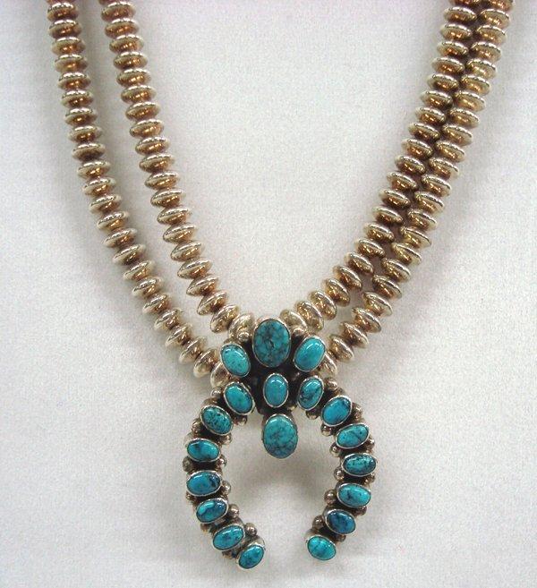 Navajo Turquoise Naja Necklace