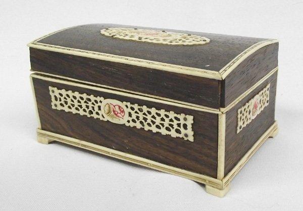 Russian Inlay Ivory Jewelry Box