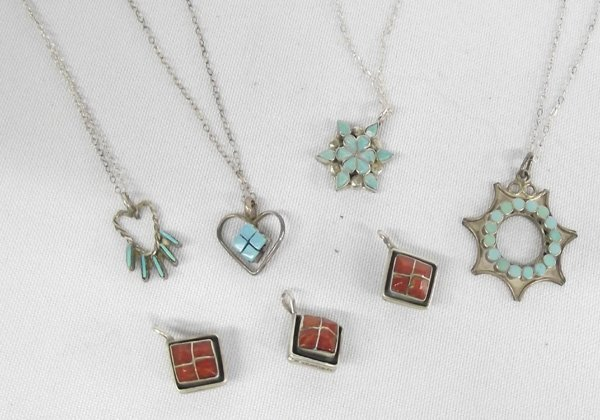 Collection of Zuni Turquoise Necklaces & Pendants