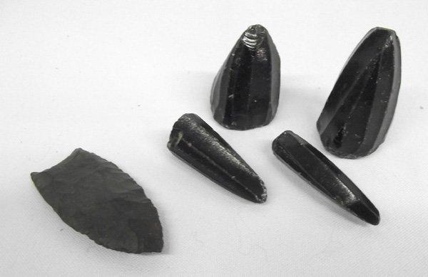 PreColumbian Obsidian Cones & Oregon Arrowhead