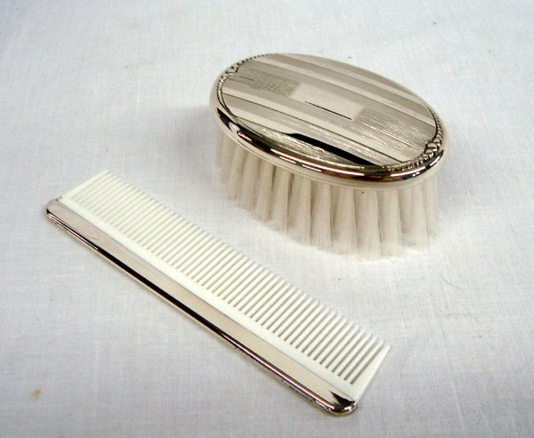 WEB Company Sterling Silver Child's Comb and Brush Set
