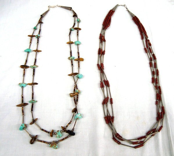 Navajo Sterling Silver Turquoise Necklaces