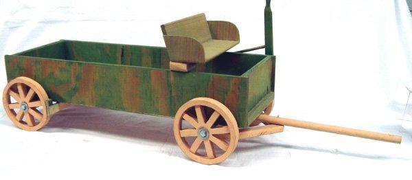 Navajo Folk Art Wooden Buckboard Wagon