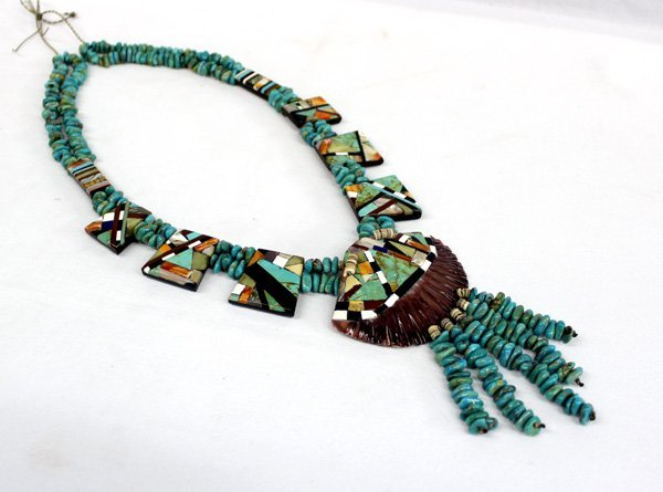 1970s Santo Domingo Inlay Shell Necklace
