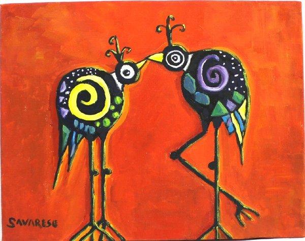 Original Oil  by Mimbres Artist Judy Savarese