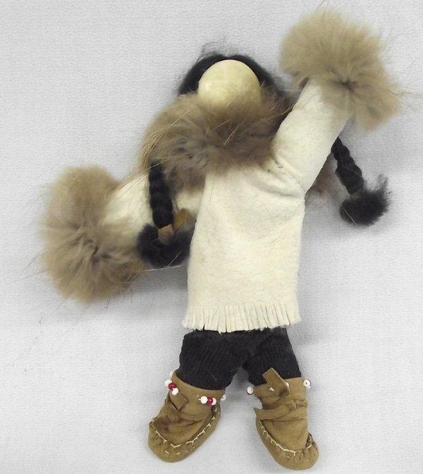 Northwest Coast Eskimo Ivory Faced Doll - Wardlow