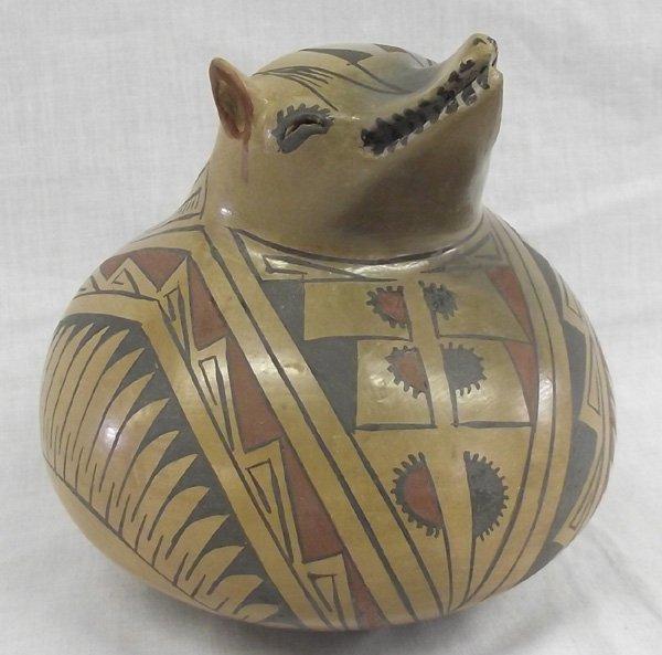 1960  Mata Ortiz Polychrome Bat Effigy Pot - Reana
