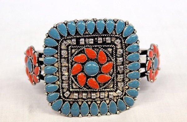 Southwestern  Style  Square Cluster Bracelet