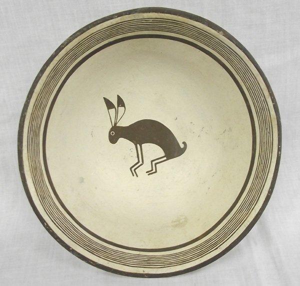 Zia Mimbres Design Rabbit Bowl by Vincentita Pino