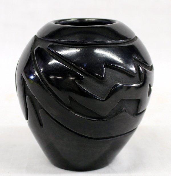 Santa Clara Pueblo Carved Jar by Stella Chavarria
