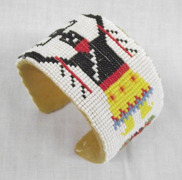Jicarilla Apache Spirit Dancer Beaded Wrist Cuff