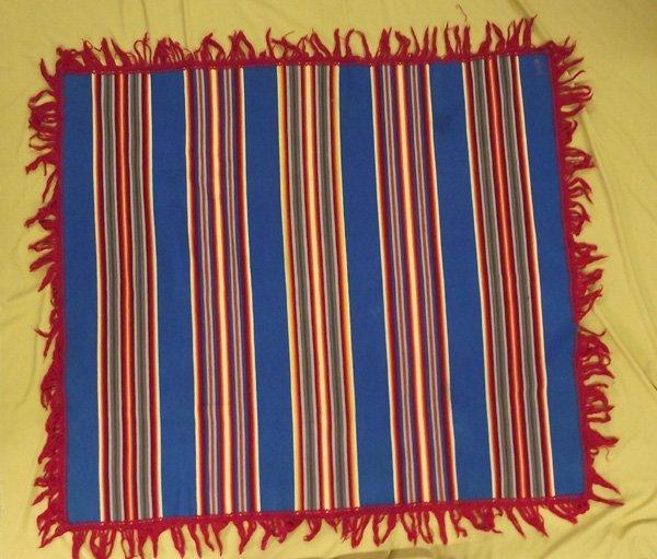 1940 Vintage Navajo Pendelton Striped Shawl