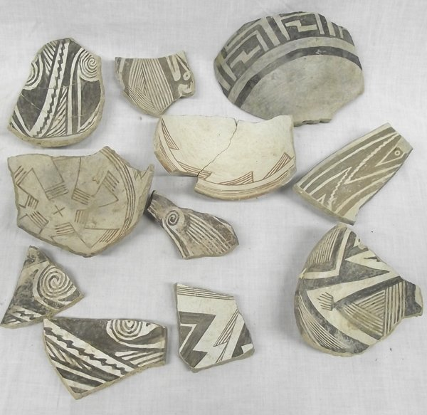 Collection of Classic Mimbres Pottery Sherds
