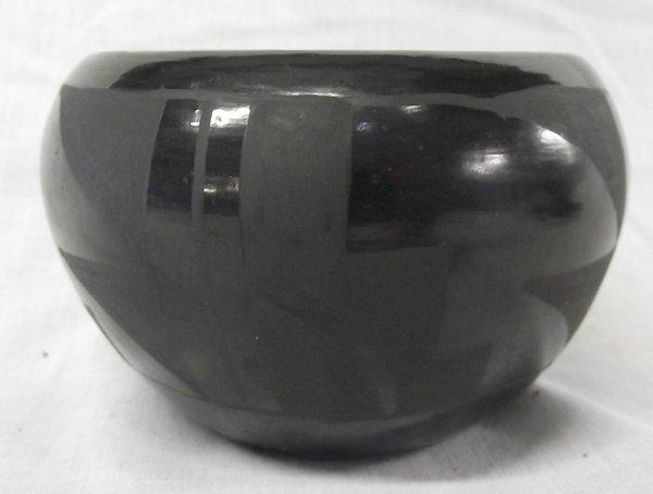 Santa Clara Black on Black Jar by M. Garcia