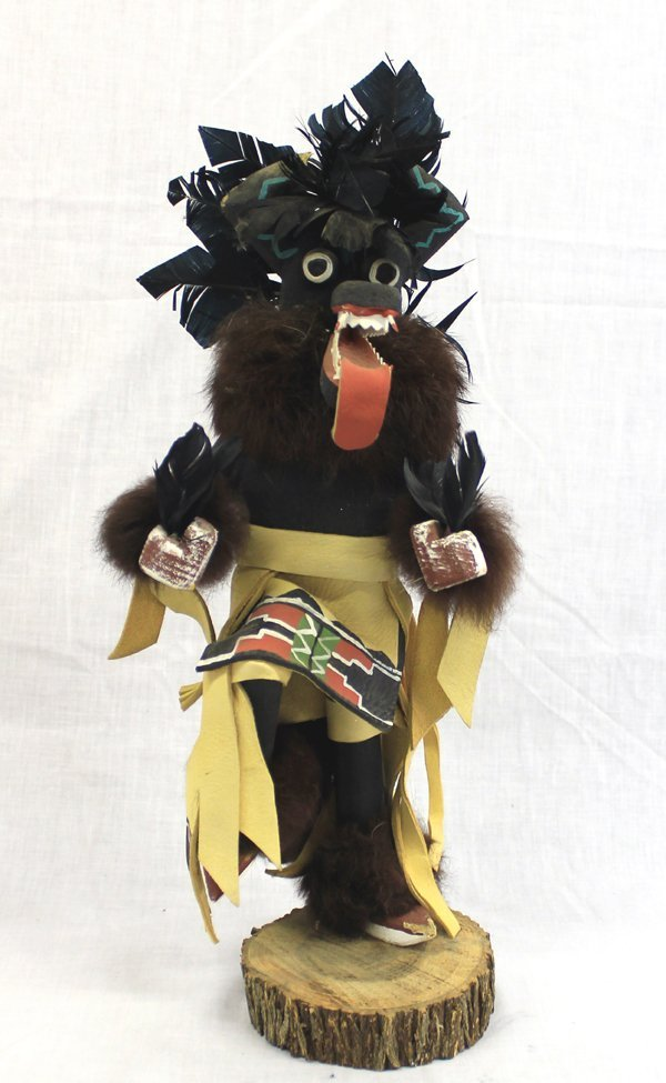 Navajo Black Ogre Kachina by Bakali