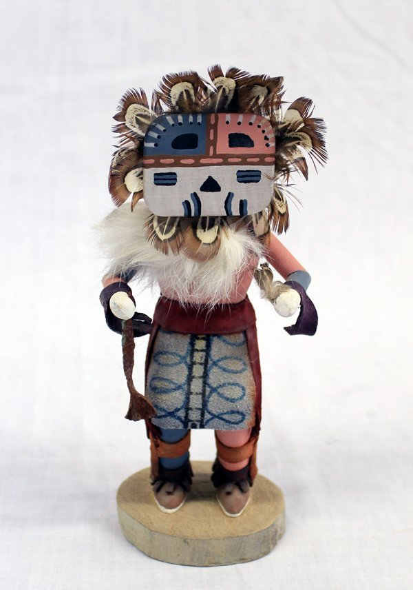 Navajo Carved Sun Face Kachina Doll by L. Mariano