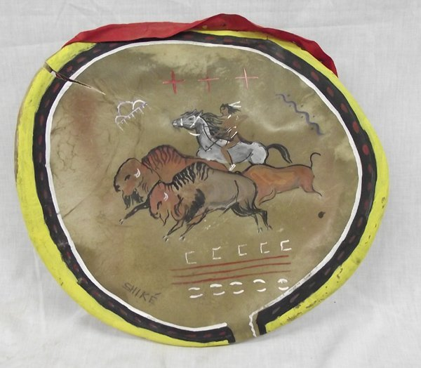 Vintage Plains Indian Hide Banner by Shike
