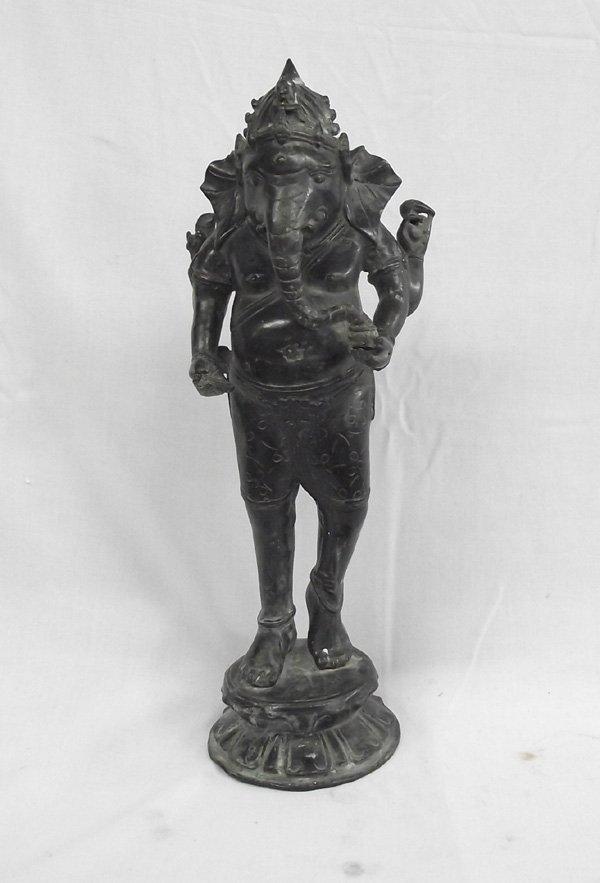 Ganesh Cast Metal Sculpture