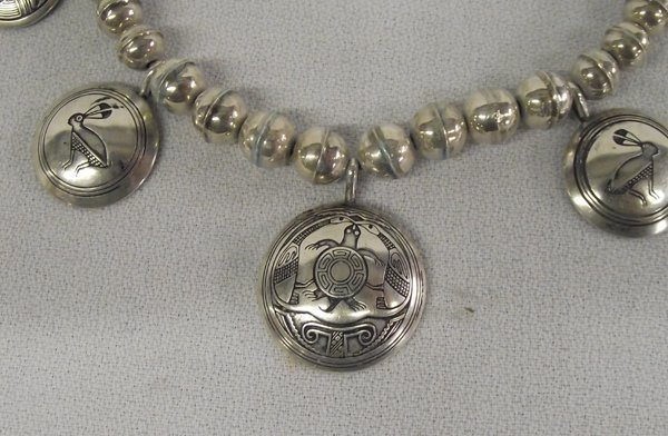 Sterling Mimbreno Indian Design Necklace