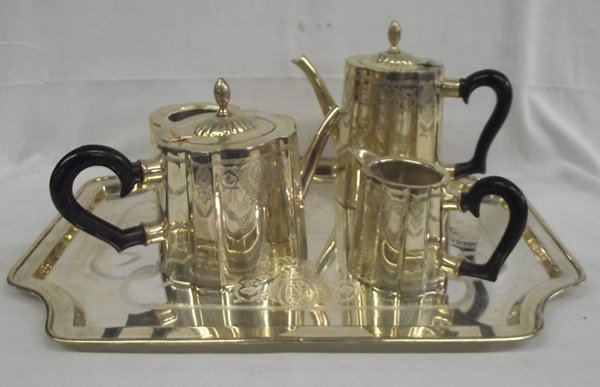 Federal Style 5 Pc Silverplate Tea Set