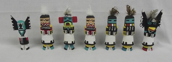 Zuni Hand Carved Route 66 Kachinas by Leroy Pooley