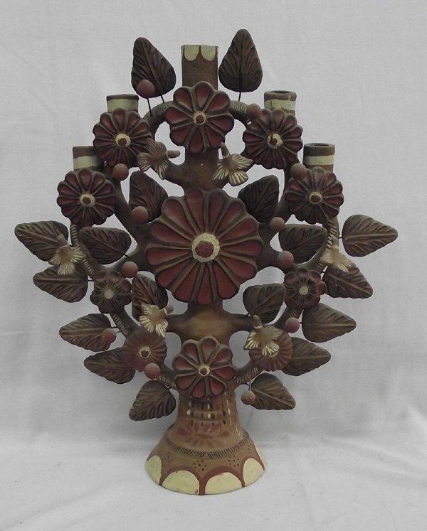 Vintage Tree of Life Oaxacan Candlelabra