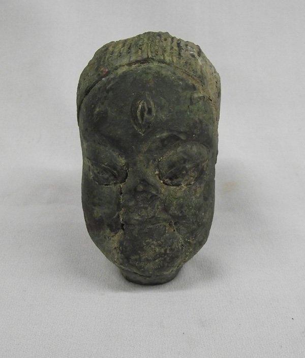 Heavy Cast Metal Head Figure