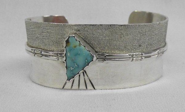 Navajo Sterling & Turquoise Bracelet, Roger Skeet