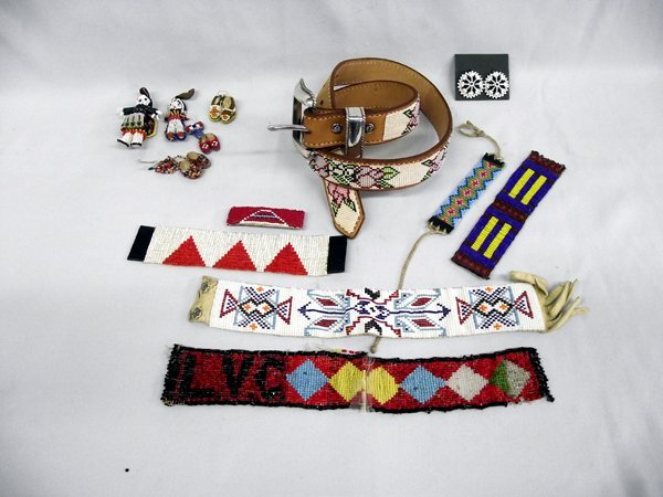 Collection of Plains Indian Bead Work.