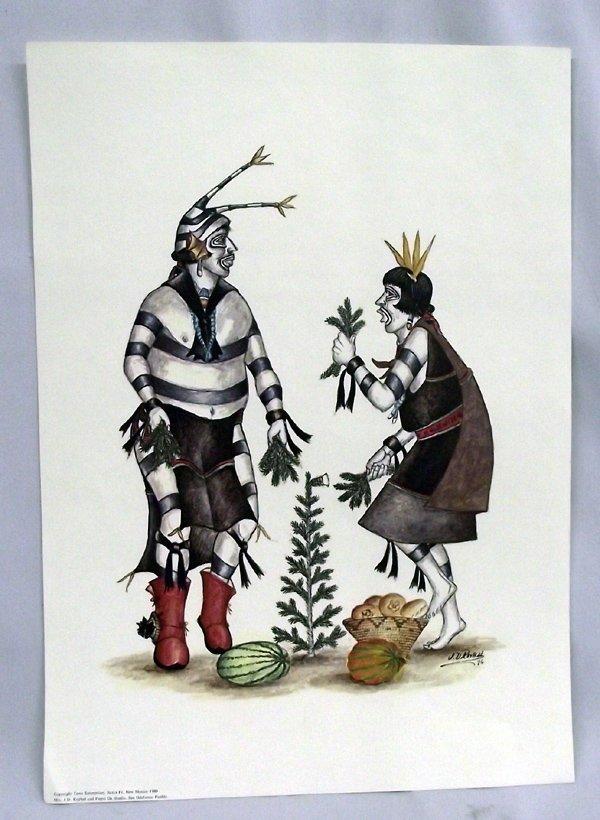San Ildefonso Print by J. D. Roybal (1922-1978)