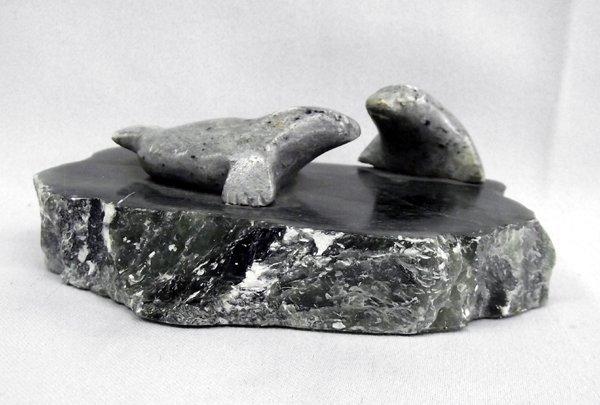Northwest Coast Soapstone Sculpture  Ben Saclamana