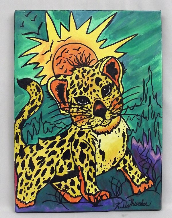 Original Acrylic ''My Baby Cougar'' Kills Thunder