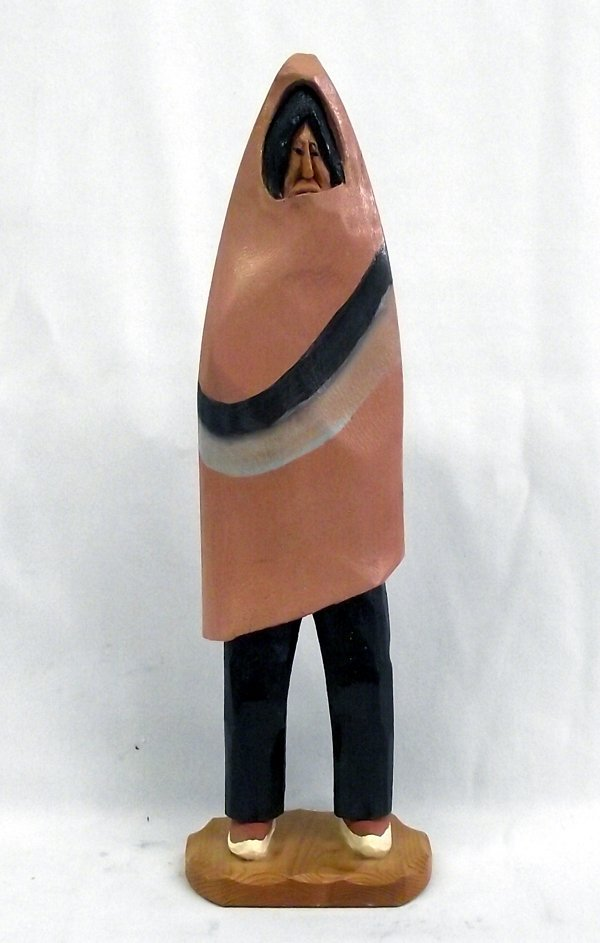 Navajo Folk Art Chief Carving by Ruben O. Montoya