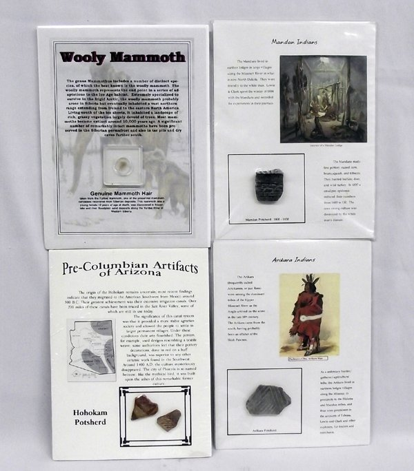 Four Catalogued & Authenticated Artifacts