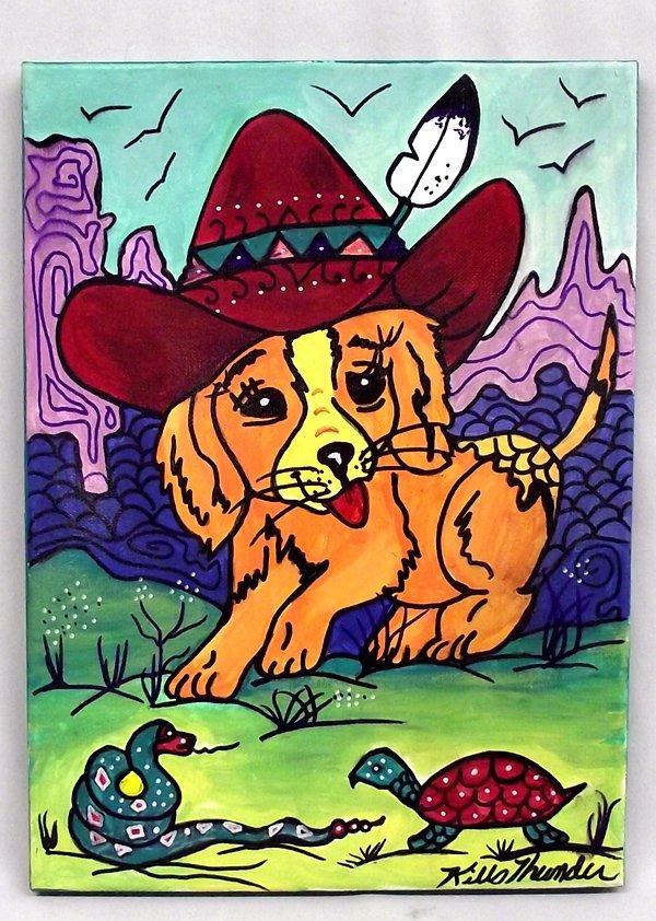 Original Acrylic ''Pedro the Pup'' Kills Thunder